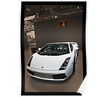 WHITE LAMBO IN STYLE  Poster