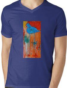 Blue Bird Mens V-Neck T-Shirt