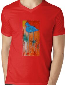 Blue Bird Mens V-Neck T-Shirt