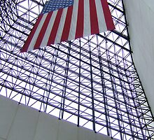 Flag at JFK Presidential Library by midnightisclose