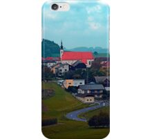 Village skyline on a cloudy day | landscape photography iPhone Case/Skin