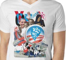 """OBAMA """"change can happen"""" Mens V-Neck T-Shirt"""