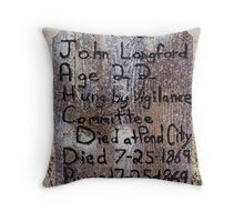 Hung by a Vigilante Committee Throw Pillow