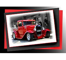 red car poster Photographic Print