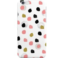 Marble Black Pink Spots iPhone Case/Skin