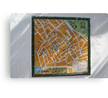 Necessito una mapas Canvas Print