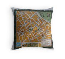 Necessito una mapas Throw Pillow