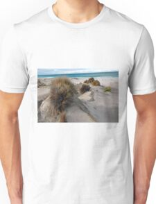White sandy beach. Unisex T-Shirt