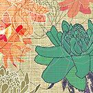 Gingerflower Card on Beige by Tiffany Atkin