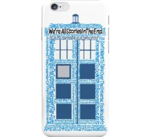 Doctor Who Quotes (White BG) iPhone Case/Skin
