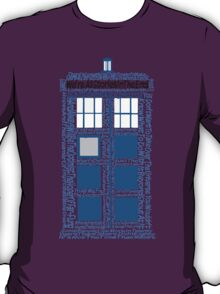 Doctor Who Quotes (White BG) T-Shirt