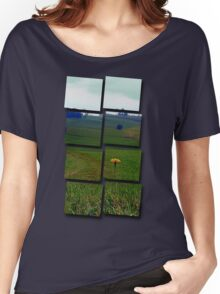Dandelion with some scenery behind | landscape photography Women's Relaxed Fit T-Shirt