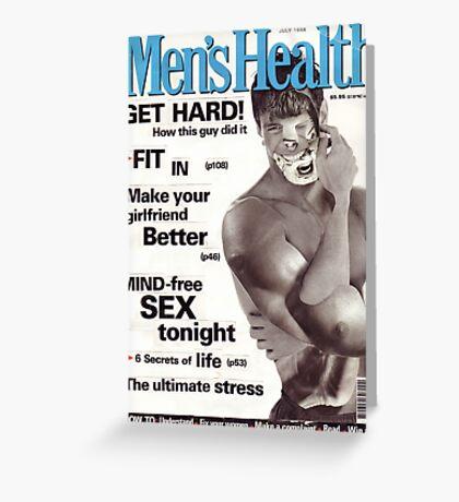 M Blackwell - Men's Health... Greeting Card