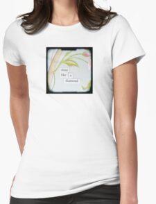 Shine like a diamond Womens Fitted T-Shirt
