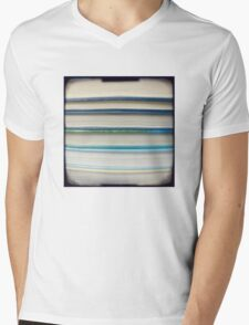 Blue book stripes Mens V-Neck T-Shirt