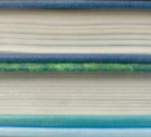 Blue book stripes Sticker