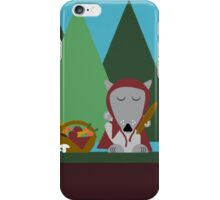 wolf picnic iPhone Case/Skin