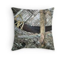 Grain Reaper Throw Pillow