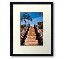 Ornate stairway at Viansa Winery, California Framed Print