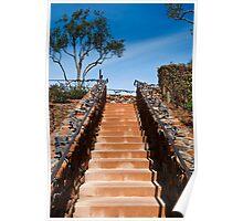 Ornate stairway at Viansa Winery, California Poster