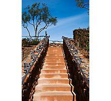 Ornate stairway at Viansa Winery, California Photographic Print