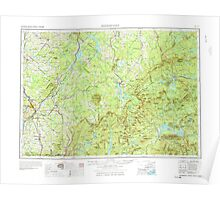 Maine USGS Historical Map Sherbrook 460869 1976 250000 Poster