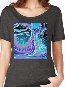 Magic Tale Blacklight Forest Background Women's Relaxed Fit T-Shirt