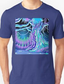 Magic Tale Blacklight Forest Background T-Shirt