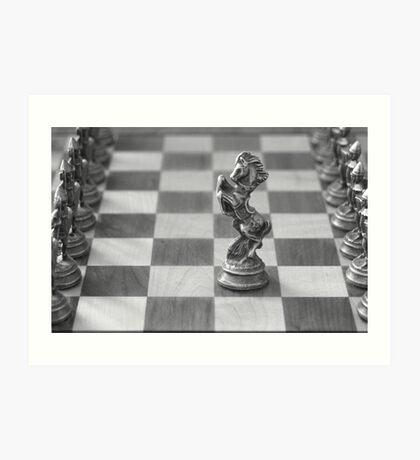 Chess Pieces Art Print