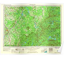 Maine USGS Historical Map Sherbrooke 707606 1966 250000 Poster
