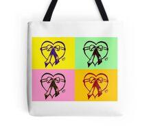 Pop Art Heart Tote Bag