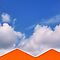 Orange Triangles/Blue Sky by Barbara Morrison