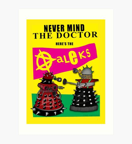The Punk Daleks  Art Print