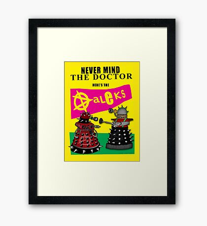 The Punk Daleks  Framed Print