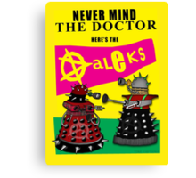 The Punk Daleks  Canvas Print