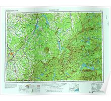 Maine USGS Historical Map Sherbrooke 807150 1976 250000 Poster