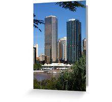 Brisbane Skyline from Kangaroo Point Greeting Card