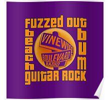 Grand Theft Auto Vinewood Boulevard Radio Fuzzed Design Poster