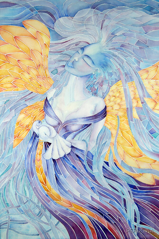 blue Angel of Peace  © patricia vannucci 2008  by PERUGINA