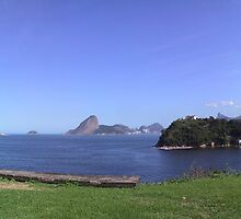 Panoramic view of Rio de Janeiro and Niterói by Frans Harren