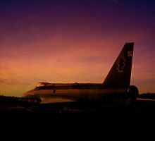 Lightning Sunset  by J Biggadike