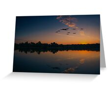Warbird Reflections  Greeting Card