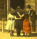 """""""The Gunslinger, Saloon Floozies & the Marshall"""" by waddleudo"""