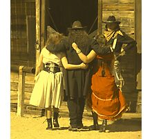"""The Gunslinger, Saloon Floozies & the Marshall"" Photographic Print"