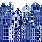 Amsterdam Delft Blue Style Dutch Houses by Moonlake