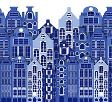 Amsterdam Delph Blue Style Dutch Houses by Moonlake