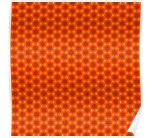 Golden Orange Honeycomb Hexagon Pattern Poster