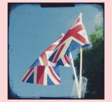 Flags - Union Jacks in a blue sky Kids Tee