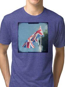 Flags - Union Jacks in a blue sky Tri-blend T-Shirt