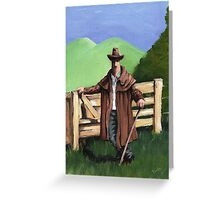 bloke by the fence Greeting Card